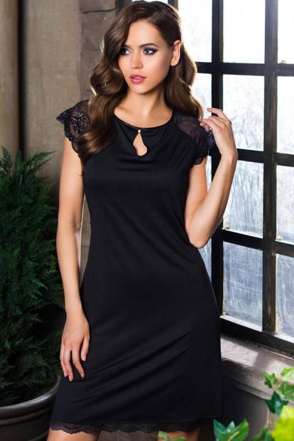 Женская атласная ночная сорочка Mia-Mia Elegance DE LUX 12036 - фото 1