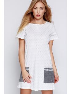 Женская хлопковая домашняя сорочка с коротким рукавом
