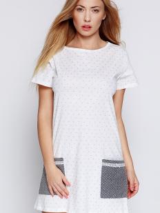Женская хлопковая ночная сорочка с коротким рукавом Sensis Lou