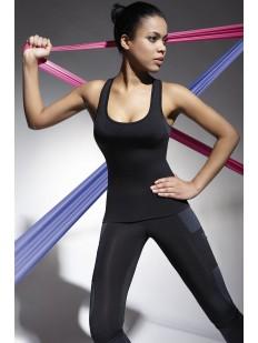 Последний товар!!! Женская спортивная черная майка для фитнеса