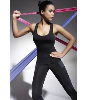 Женская спортивная черная майка для фитнеса