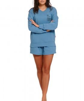 Хлопковые женские шорты в голубом цвете