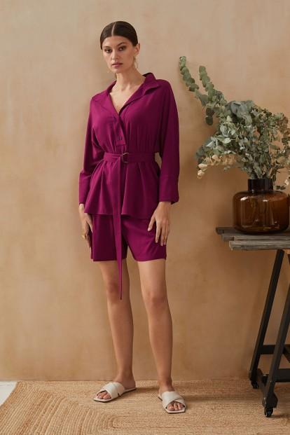 Фиолетовые домашние женские шорты Laete 61745-2 - фото 1