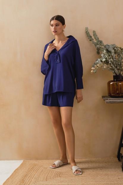 Синие домашние женские шорты Laete 61745-1 - фото 1