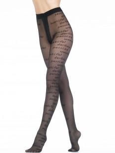 Фантазийные тюлевые женские колготки 40 ден с надписями