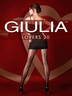 Колготки со швом сердечки 20 den Giulia LOVERS 13
