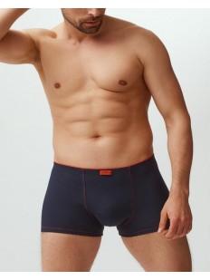 Хлопковые мужские трусы боксеры с контрастной отделкой
