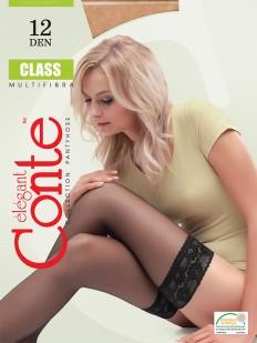 Ультратонкие чулки Conte elegant Class 12 stay-up