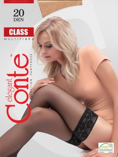 Тонкие чулки Conte elegant Class 20 stay-up