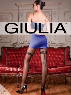 Последний товар!!! Колготки со швом и имитацией Giulia ADRIANA 20 den