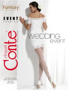 Свадебные колготки со стразами и швом Conte Elegant EVENT 20