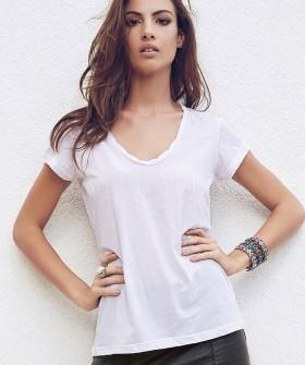 Женская хлопковая футболка в стиле casual