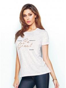 Женская домашняя хлопковая футболка с надписью