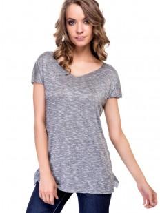 Женская серая футболка из вискозы