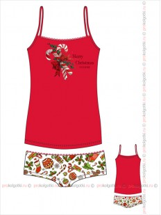 Бельё женское Innamore intimo Imd merry christmas 4151780 top and shorts