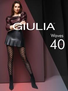 Фантазийные колготки 40 ден со спиральными линиями и шортиками
