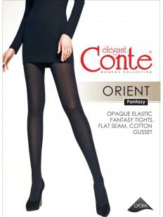 Плотные колготки с геометрическим рисунком зигзаги Conte ORIENT 60