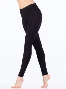 Женские черные брюки легинсы облегающие с карманами
