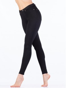 Женские джинсовые леггинсы хб облегающие с карманами