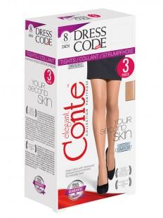 Ультратонкие колготки (3 пары) Conte elegant Dress code 8