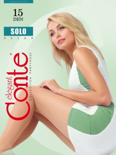 Летние классические колготки Conte Elegant SOLO 15 XL