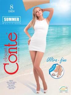 Ультратонкие колготки Conte elegant Summer 8 open toe