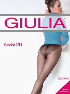 Женские колготки 20 ден с ажурными трусиками бикини