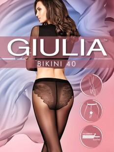 Женские колготки 40 ден с ажурными трусиками бикини