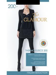 Теплые колготки с флисом Glamour THERMO FLEECE 200