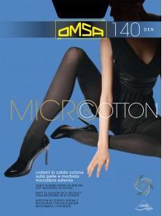 Теплые хлопковые колготки Omsa MICROCOTTON 140 XL