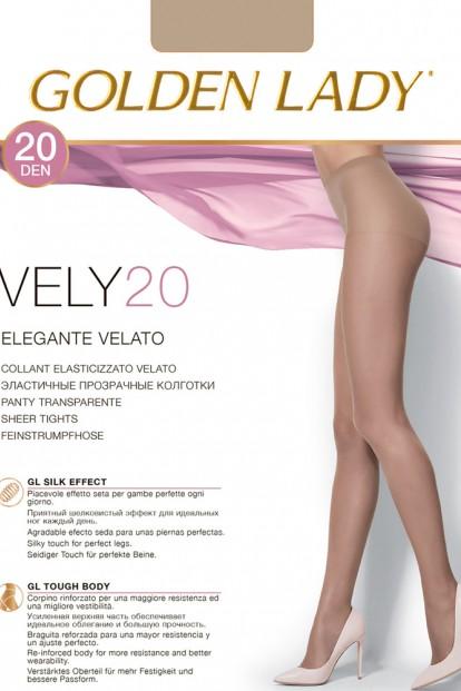 Летние капроновые классические колготки Golden lady Vely 20