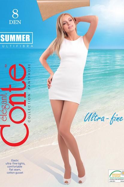 Летние матовые колготки больших размеров Conte Elegant SUMMER 8 XL - фото 1