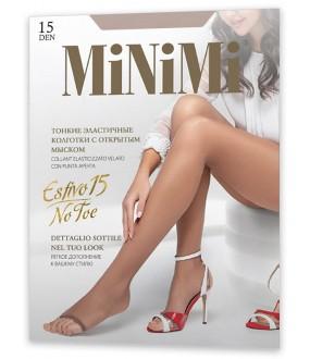 Колготки с открытыми пальцами Minimi ESTIVO 15 NO TOE