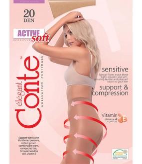 Тонкие колготки Conte elegant Active soft 20 xl
