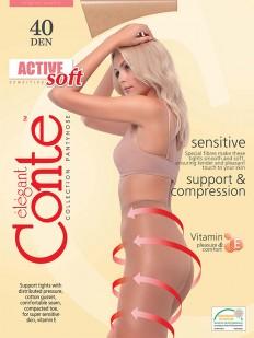 Колготки с корректриующим эффектом Conte elegant Active soft 40 xl