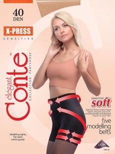 Утягивающие пуш ап колготки Conte Elegant X-PRESS 40 XL
