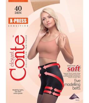 Колготки с push-up эффектом Conte elegant X-press 40 xl