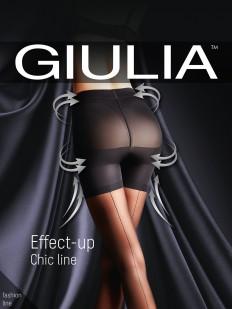 Утягивающие пуш ап колготки со швом Giulia EFFECT UP Chic Line 20