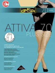 Поддерживающие колготки Omsa Attiva 70 xxl plus size