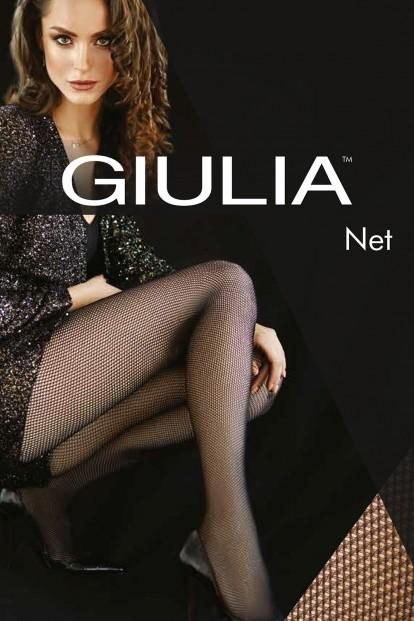Классические колготки в сетку с однородными шортиками Giulia NET 40 - фото 1