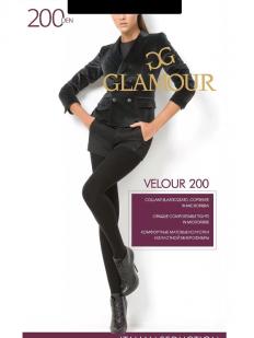 Теплые женские матовые колготки Glamour VELOUR 200