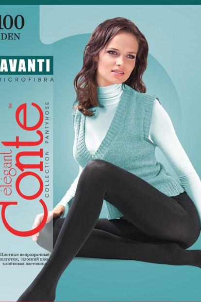 Теплые матовые колготки из бархатистой микрофибра Conte elegant Avanti 100