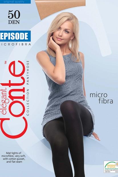 Плотные колготки большого размера с microfibra в составе Conte elegant Episode 50 xl