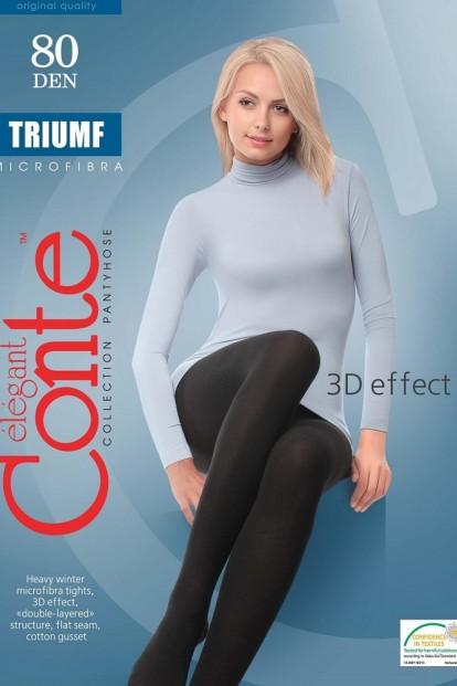 Теплые матовые колготки большого размера из микрофибра Conte Elegant TRIUMF 80 XL - фото 1