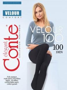 Теплые колготки Conte elegant Velour 100 xl