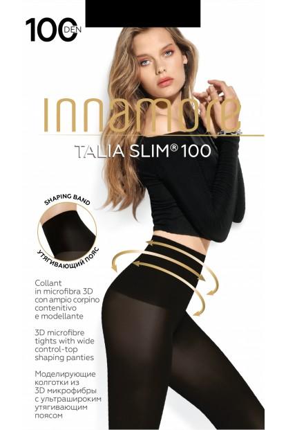 Теплые матовые утягивающие колготки Innamore TALIA SLIM 100