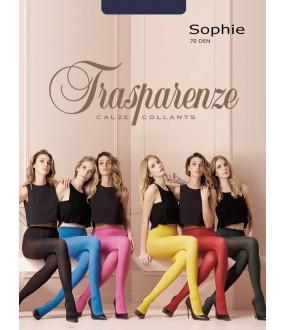 Матовые цветные колготки SOPHIE 70 den большого размера