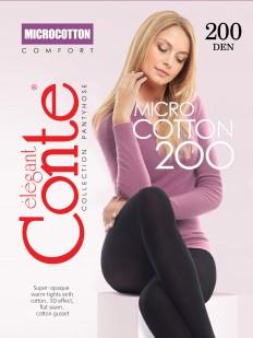 Теплые хлопковые колготки Conte Elegant MICROCOTTON 200 XL