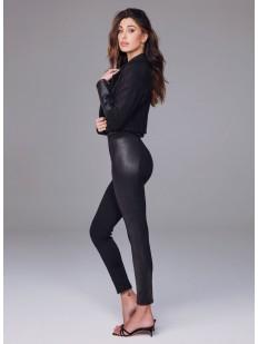 Кожаные женские брюки леггинсы полной длины