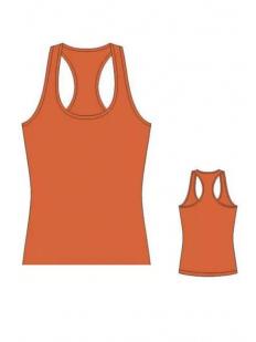 Женская оранжевая хлопковая майка борцовка